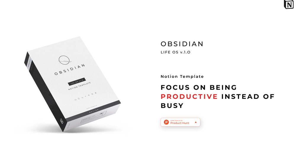 Obsidian Life OS - A unified workflow system built in Notion | Product Hunt