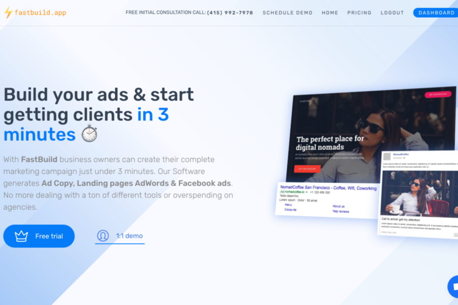 FastBuild - Create your complete marketing campaign in 3 minutes ⚡