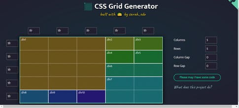 CSS Grid Generator - Simple tool to generate css grids