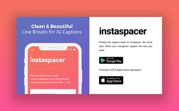 Instaspacer - Putting the spaces back into Instagram   Product Hunt