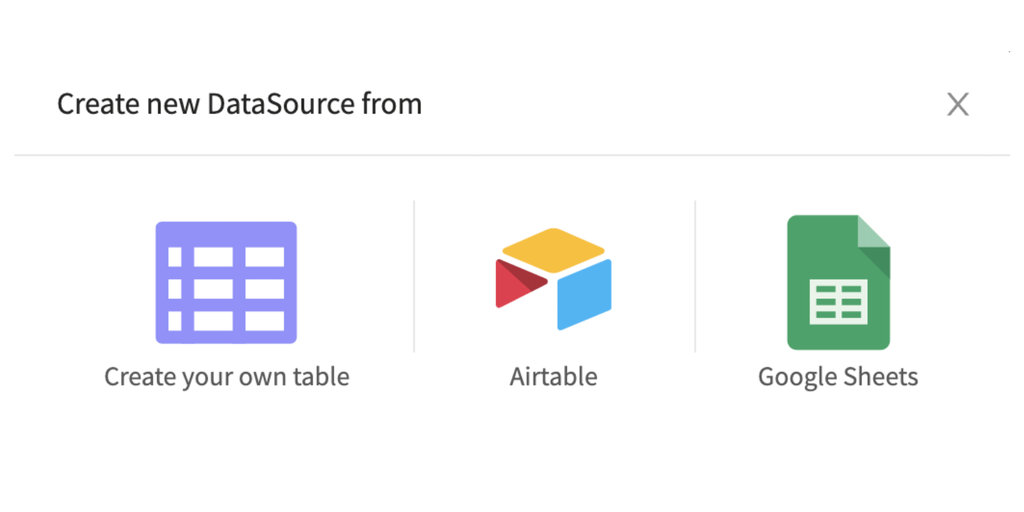 Thunkable Spreadsheet Integration - Create apps with data from Airtable & Google Sheets   Product Hunt