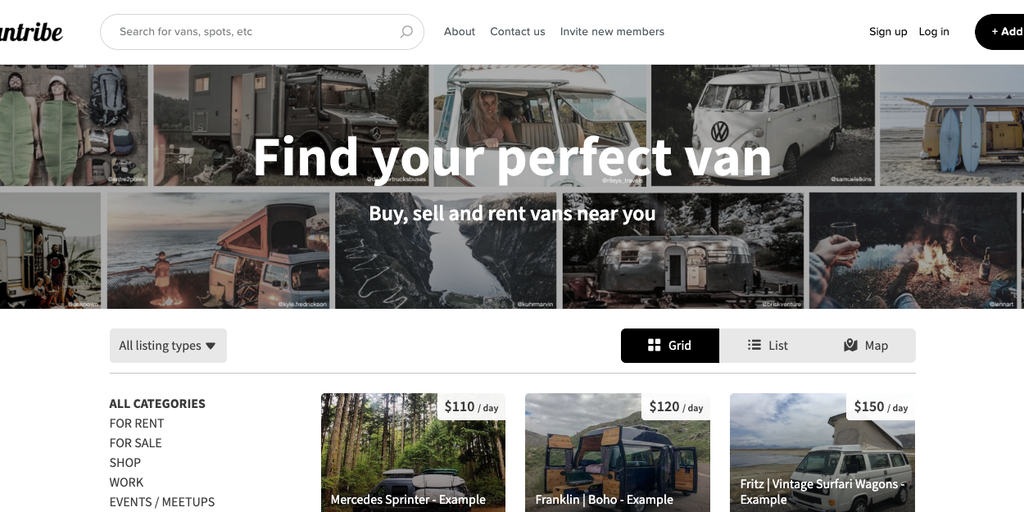 Vantribe - Rent the #vanlife near you 🚐 | Product Hunt