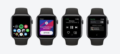 Spotify for Apple Watch - Spotify's new app for the Apple