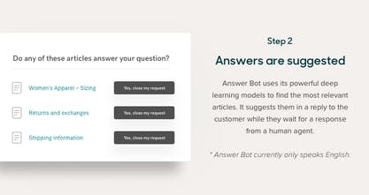 Answer Bot by Zendesk - Machine learning designed for