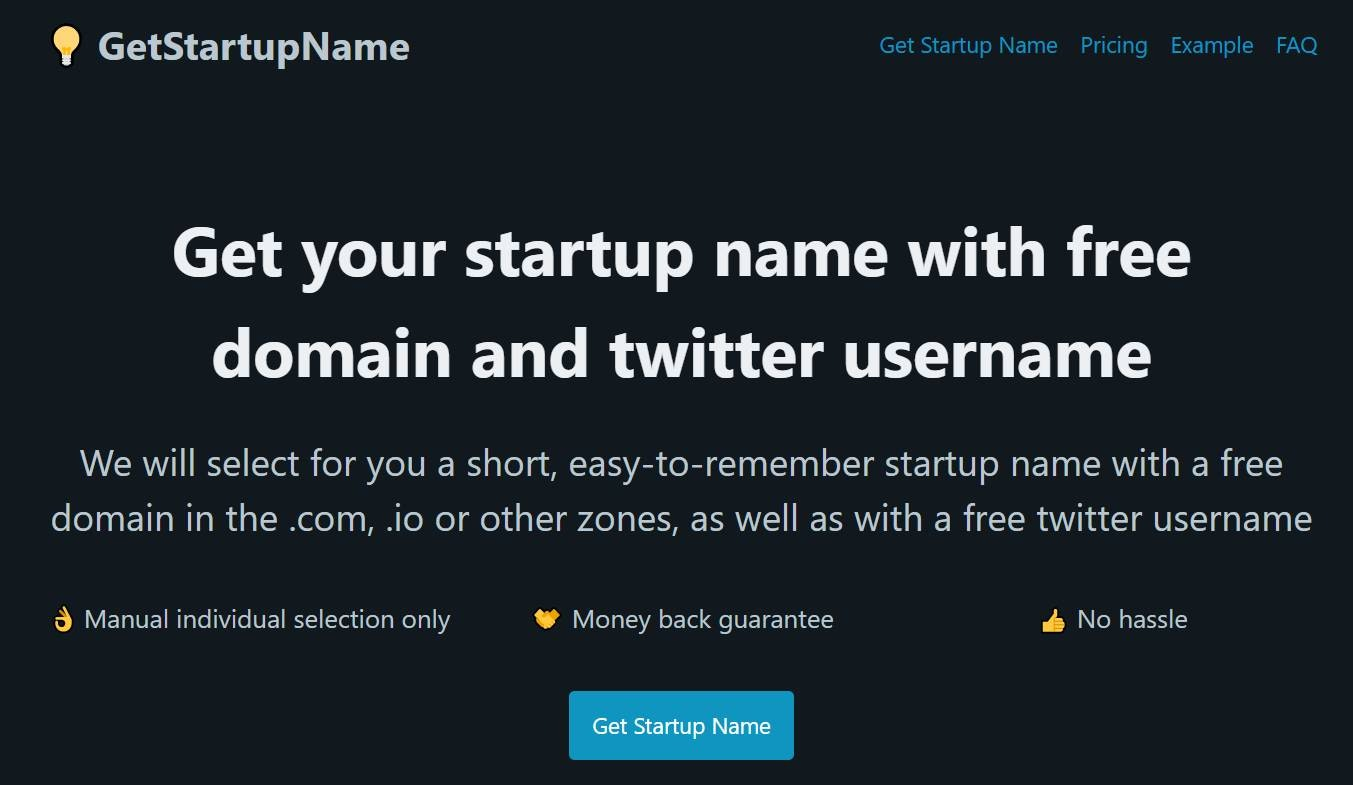 Get Startup Name   Get your startup name with free domain and ...