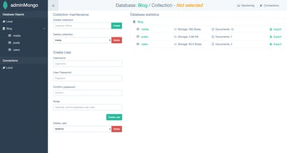 adminMongo - An open source admin user interface for your MongoDB
