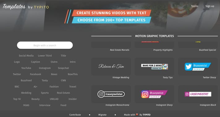 Templates by Typito - Product Hunt