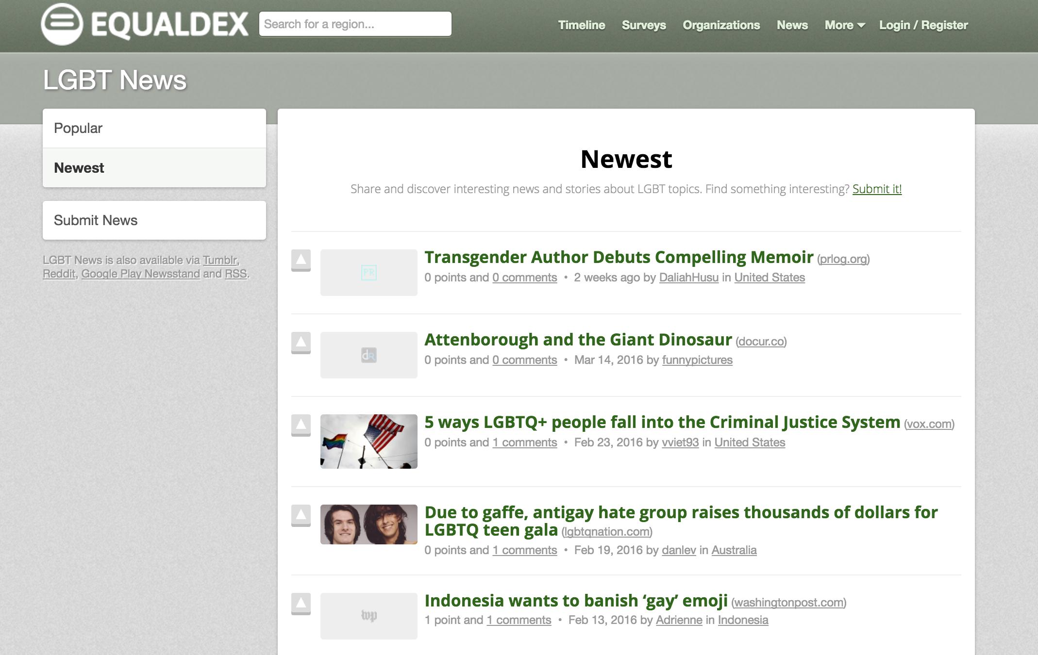 LGBT News - Hacker News for LGBT topics | Product Hunt