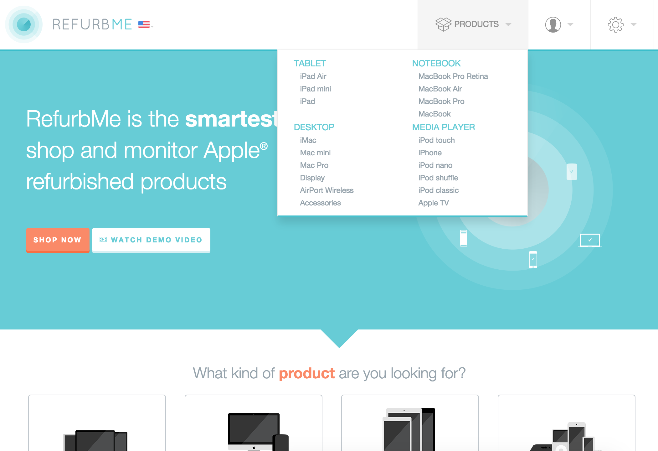 Refurb me - The smartest way to monitor Apple® refurbished products
