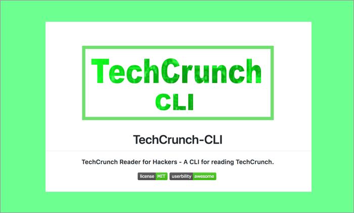 TechCrunch CLI - A command line Interface for reading TechCrunch articles