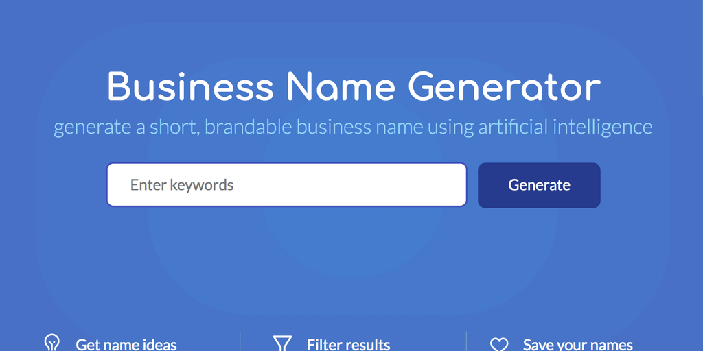 Namelix - AI business name generator | Product Hunt
