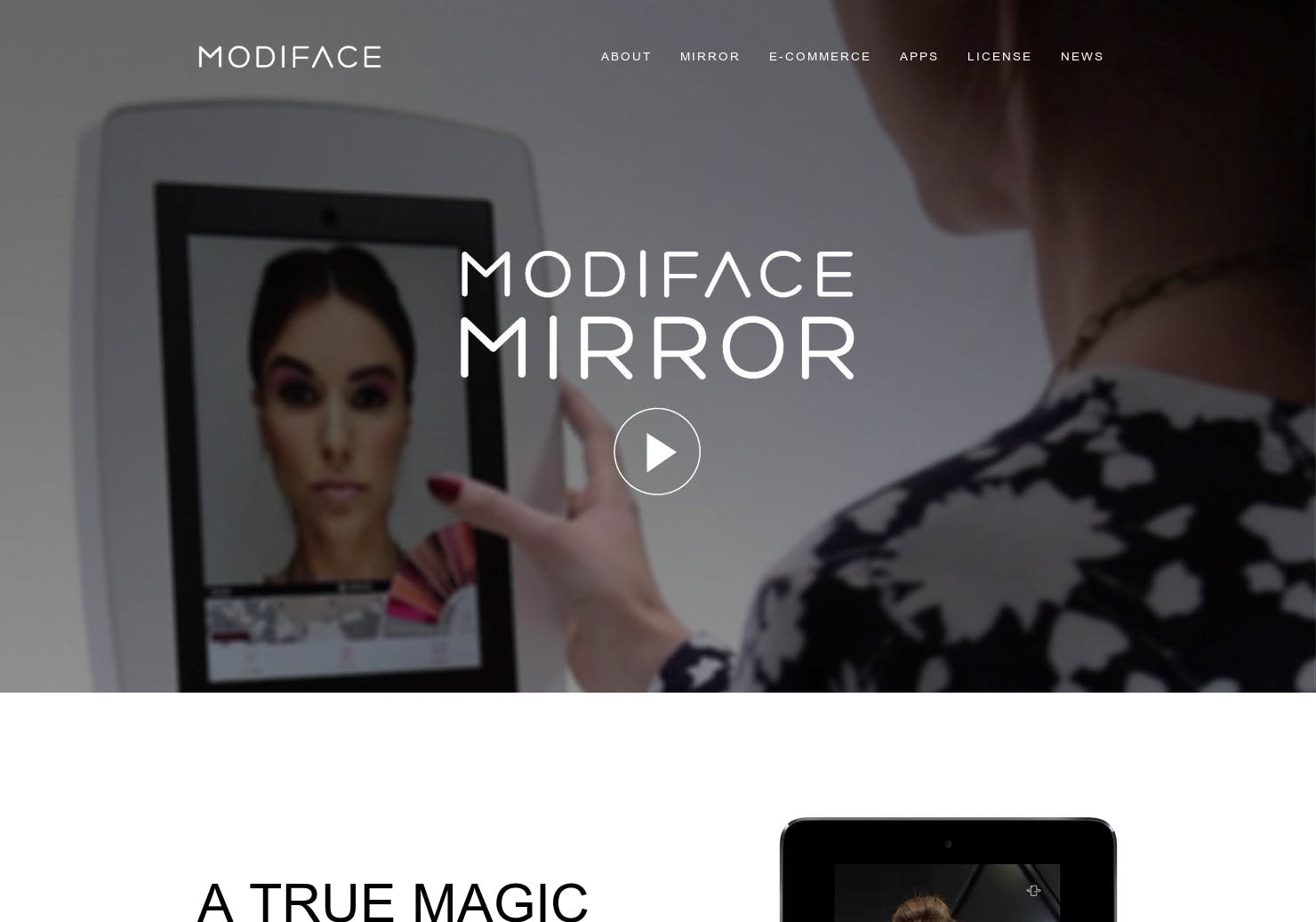 Modiface Augmented Mirror That Lets You Test Drive Makeup