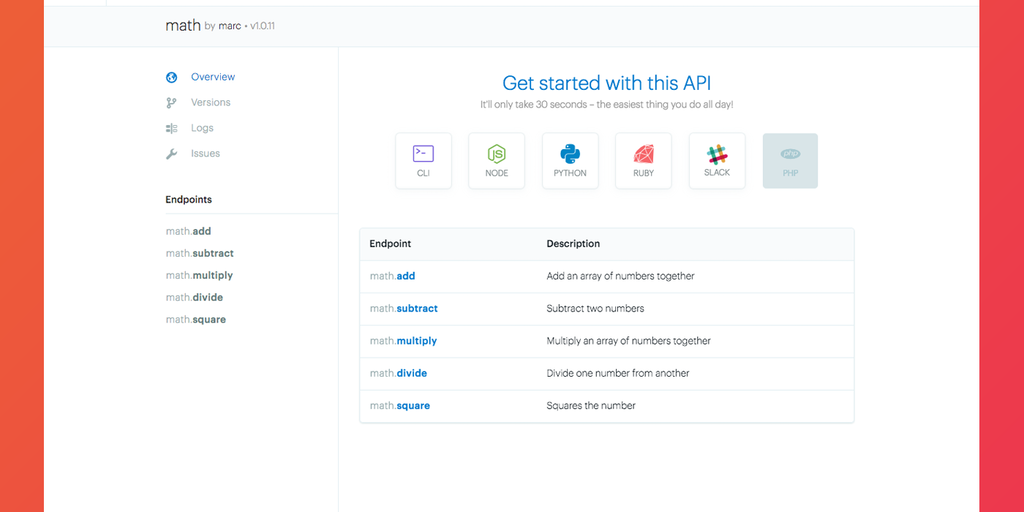 ReadMe Build - Build, deploy and share APIs & microservices easily