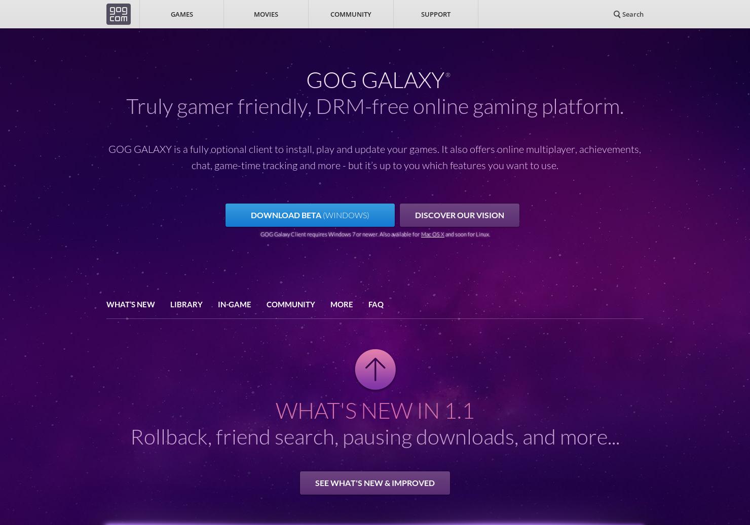 GOG Galaxy - Truly gamer friendly, DRM-free online gaming