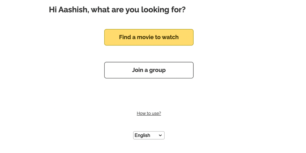 Movie Match - Match movies you'd like to watch with your friends | Product Hunt