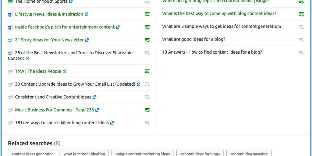 Topic Research by SEMrush - Content ideas that resonate with your