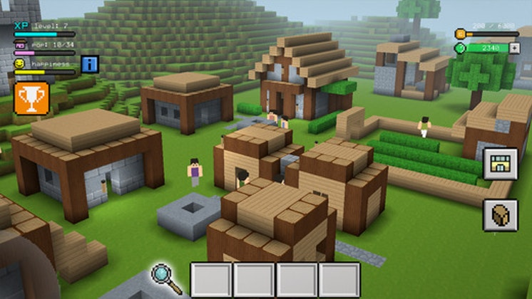 Block craft 3d city building simulator craft and grow for Design your own house simulator