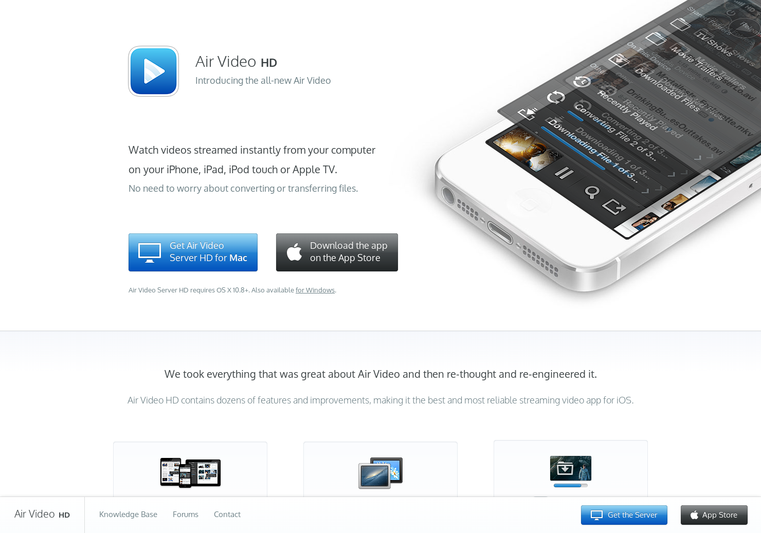 Air Video HD - Watch videos streamed from your computer to iOS device |  Product Hunt
