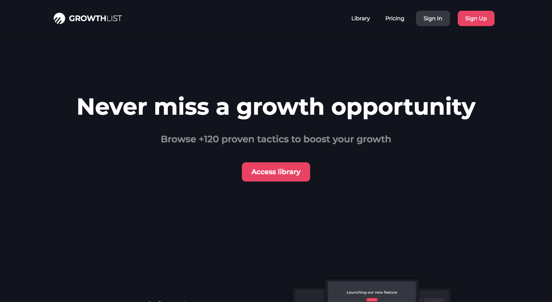 GrowthList 2.0 Product Hunt Image