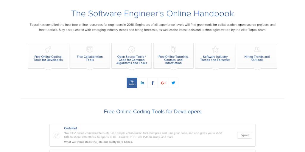 The Developer Handbook - Online handbook for the software