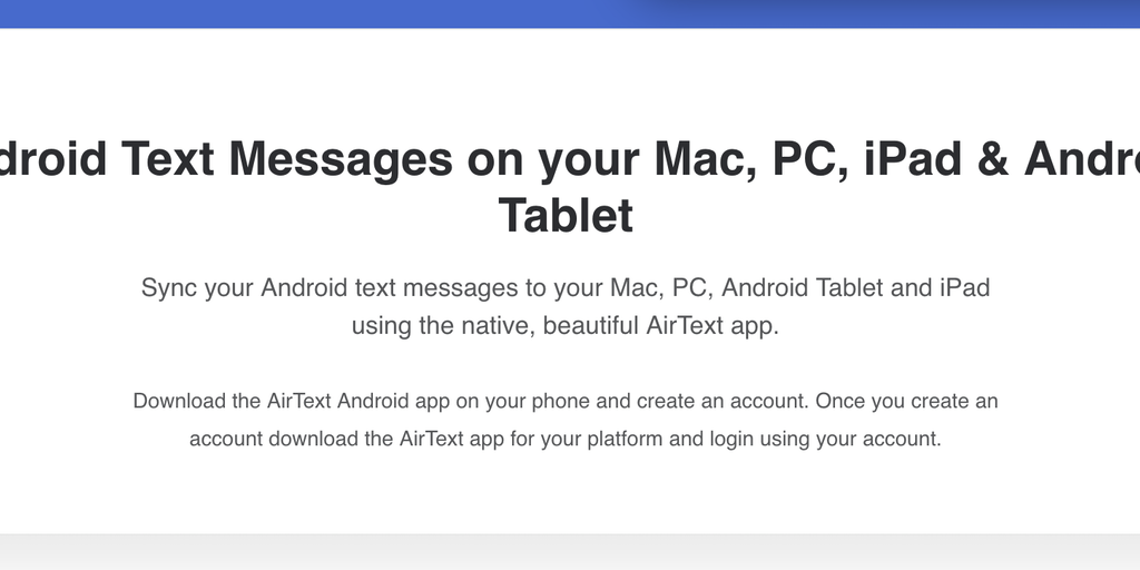 AirText - Android Text Messages on your Mac, PC, iPad & Android