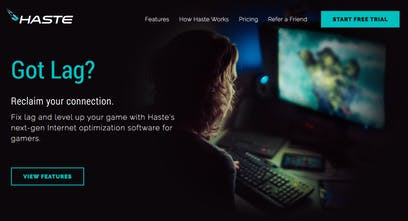 Haste - Reduce lag, packet loss, and jitter while gaming   Product Hunt