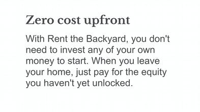 Rent the Backyard - Get an apartment in your backyard at no