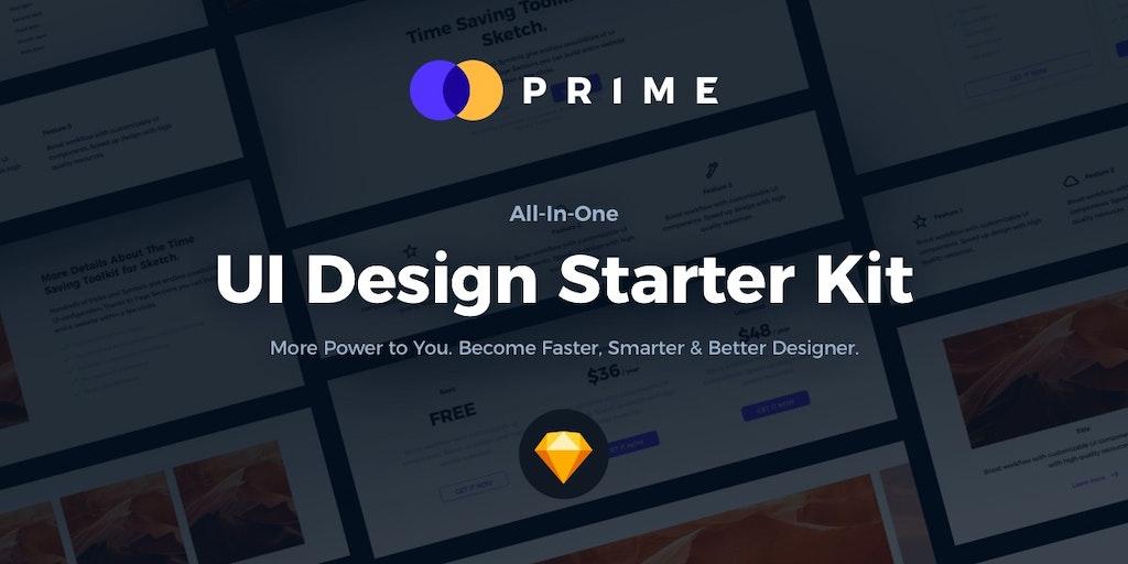 Prime 2.0 - All-In-One UI Design Starter Kit for Sketch   Product Hunt
