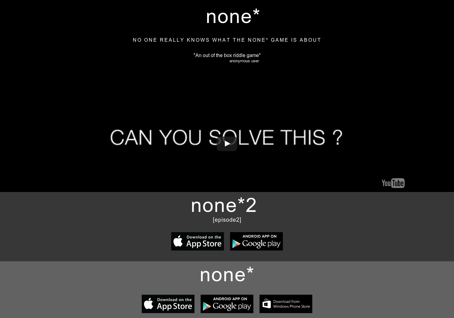 none* - A mysterious game of riddles