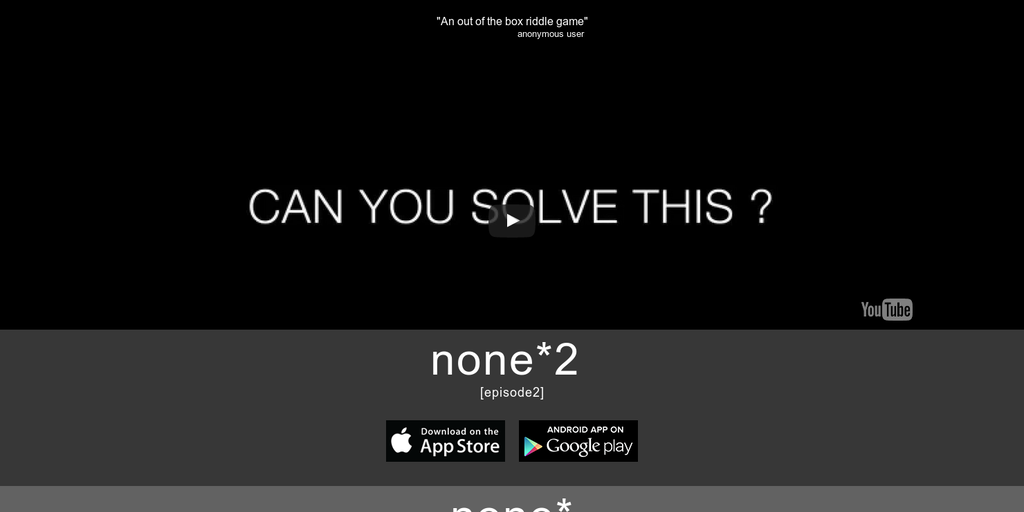 none* - A mysterious game of riddles | Product Hunt