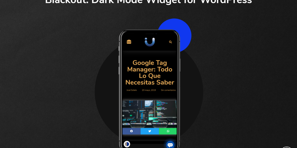 Blackout - Add a dark-mode widget to WordPress in a few seconds 🌓 | Product Hunt
