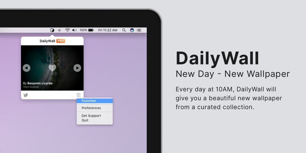 DailyWall 2.0 (Mac + iOS) - Start New Day with a New Wallpaper (Mac + iOS) | Product Hunt