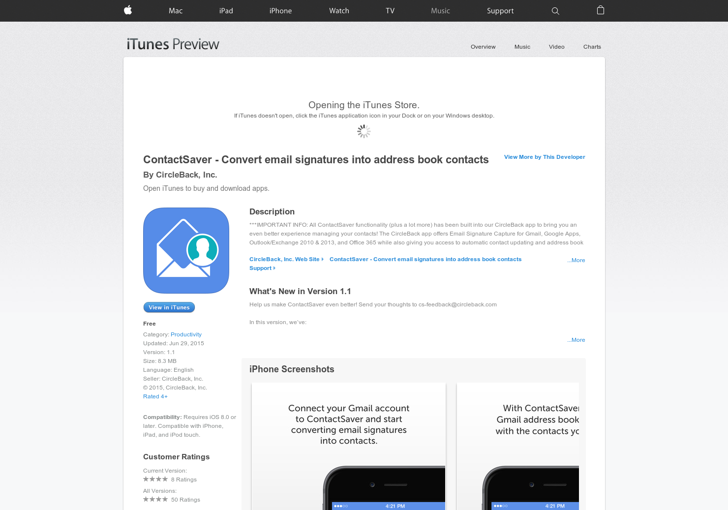 ContactSaver - Convert email signatures into address book contacts