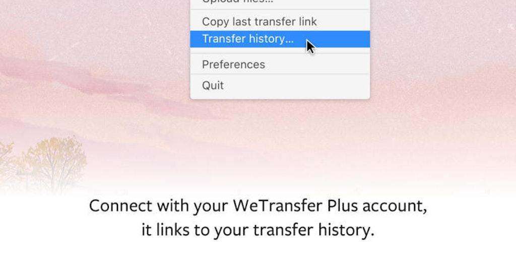 WeTransfer for Mac - Simple menu bar tool for sharing files