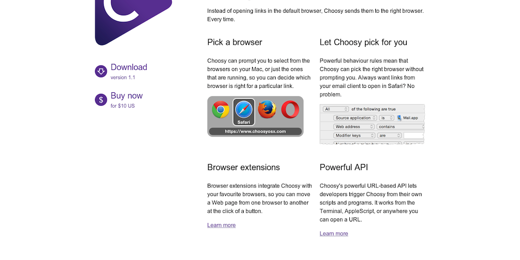 Choosy - Open links in the right browser | Product Hunt