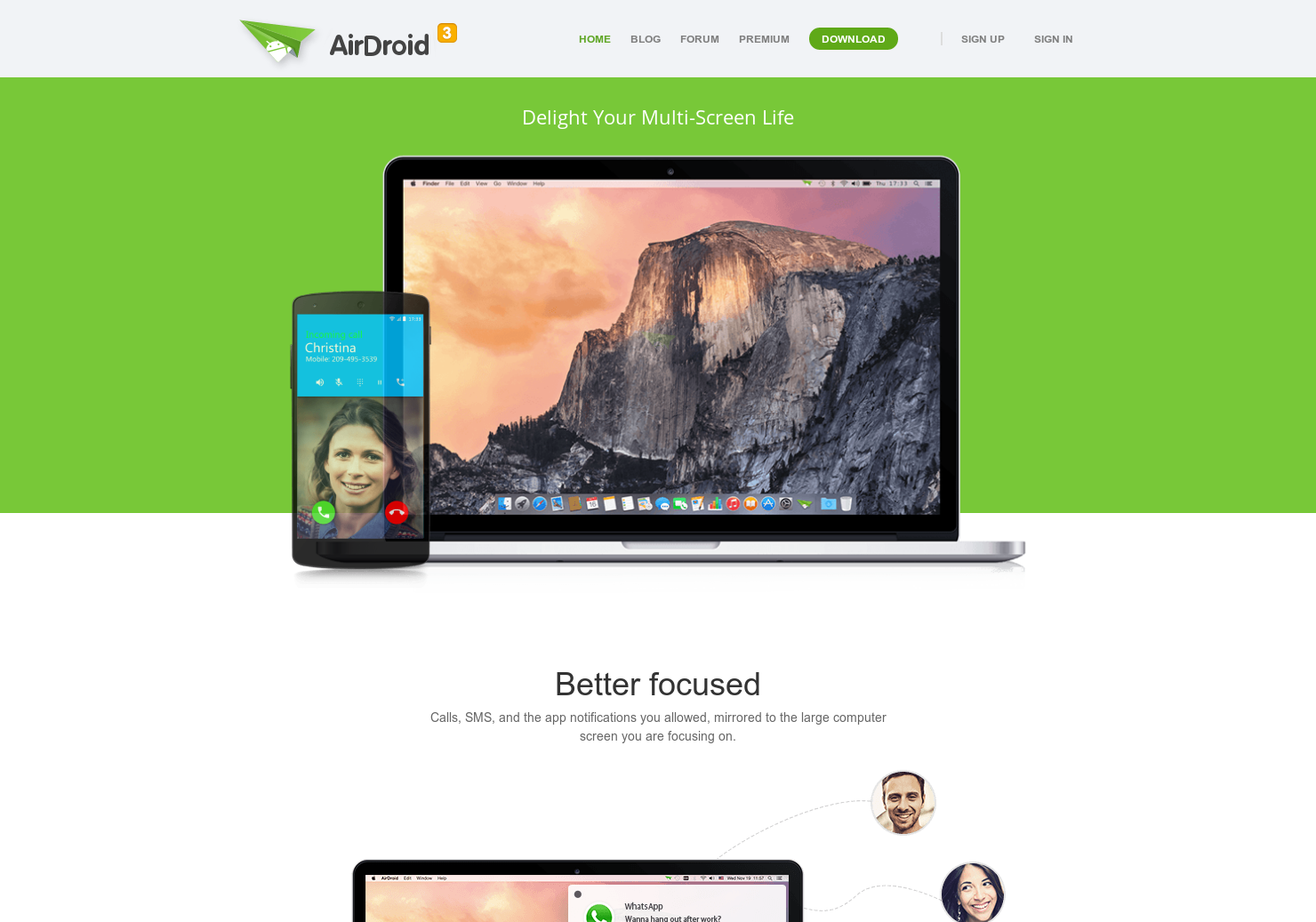 Airdroid 3 - Fully access your phone from a PC or Mac