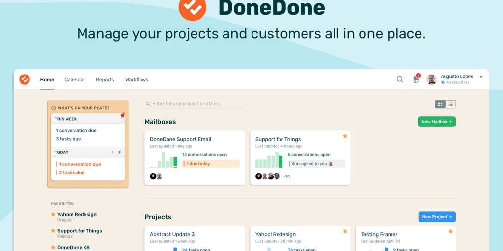DoneDone - Manage projects and support customers all in one place | Product Hunt