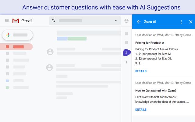 Zuzu AI - Manage knowledge from your inbox