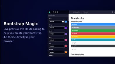 Bootstrap Magic - Create your Bootstrap 40 themes easily