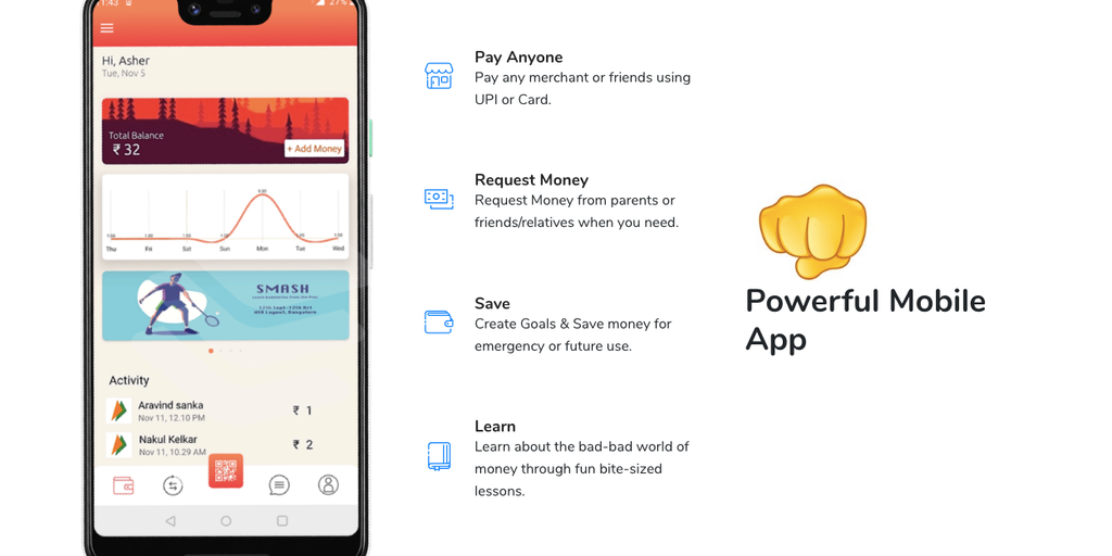 Walrus pay - Payments app debit card & rewards exclusively for teenagers | Product Hunt