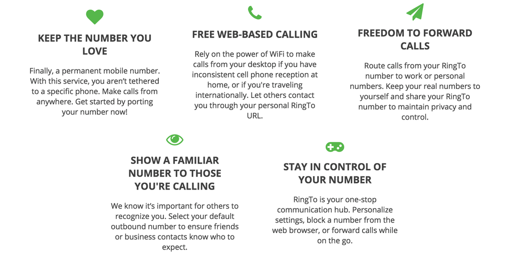 Ring To - Stay connected to, and own, the phone number you