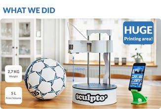 Sculpto - Small 3D printer with huge printing area | Product Hunt