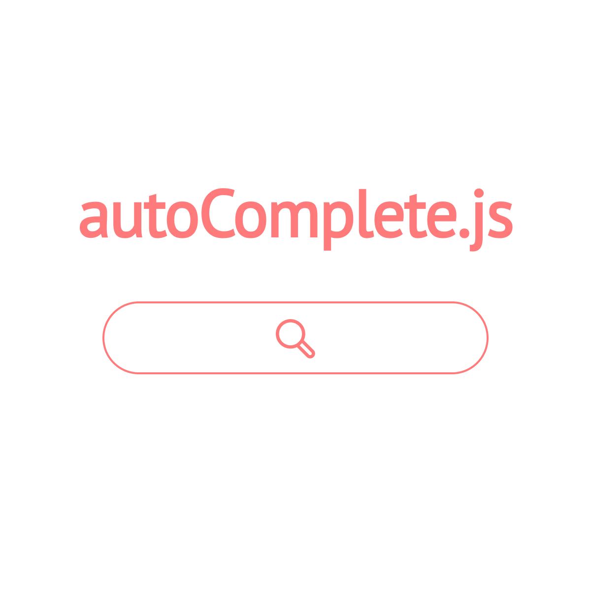 autoComplete js - Simple autocomplete pure vanilla Javascript