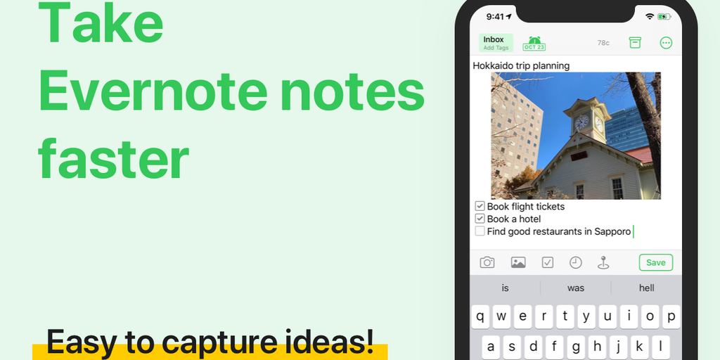 FastEver 3 - Quick note-taking app for Evernote   Product Hunt