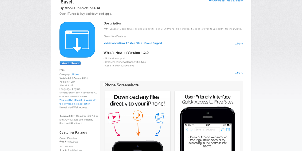 iSaveit - Download Any Files To Your iPhone | Product Hunt
