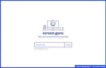 Screen Guru - Take clean screenshots of any website