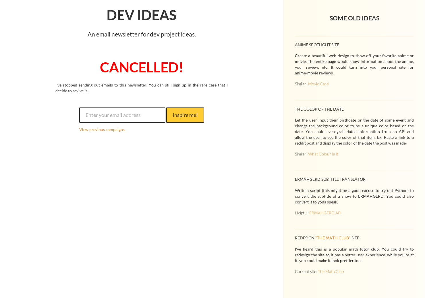 Dev Ideas - Product Hunt