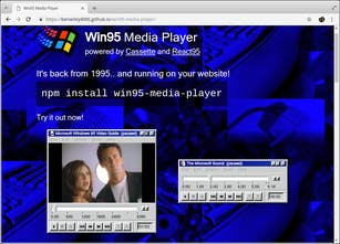 Win95 Media Player - Windows 95 media player in your browser