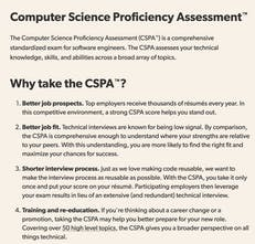 CS Proficiency Assessment - A comprehensive standardized