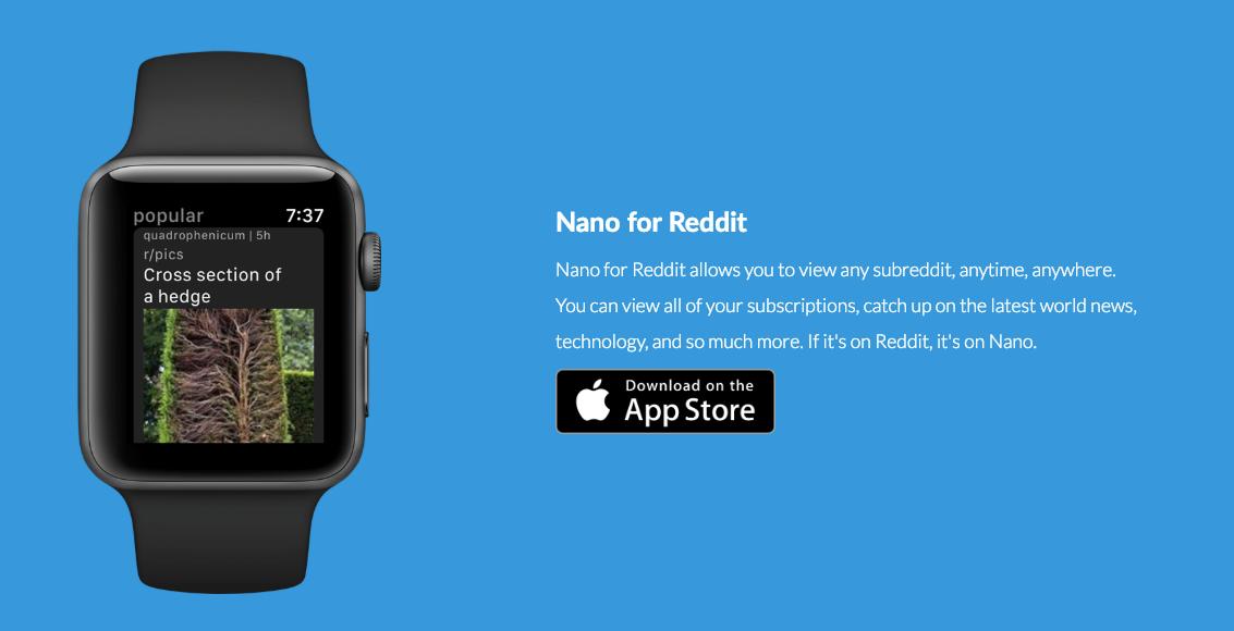 Nano for Reddit - Reddit on your Apple Watch